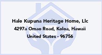 Hale Kupuna Heritage Home, Llc
