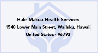 Hale Makua Health Services