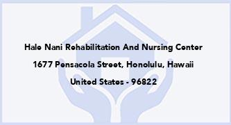Hale Nani Rehabilitation And Nursing Center