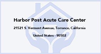 Harbor Post Acute Care Center