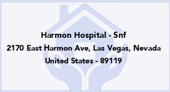 Harmon Hospital - Snf