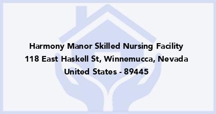 Harmony Manor Skilled Nursing Facility