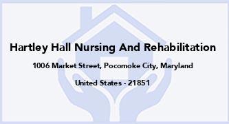 Hartley Hall Nursing And Rehabilitation