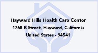 Hayward Hills Health Care Center