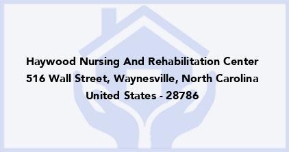 Haywood Nursing And Rehabilitation Center
