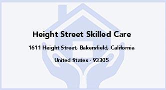 Height Street Skilled Care