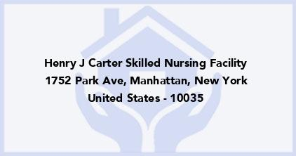 Henry J Carter Skilled Nursing Facility