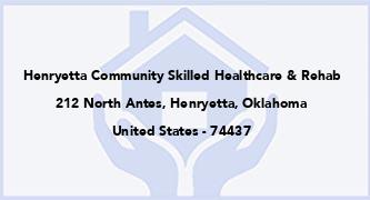 Henryetta Community Skilled Healthcare & Rehab