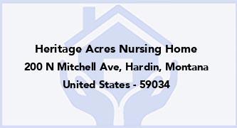 Heritage Acres Nursing Home