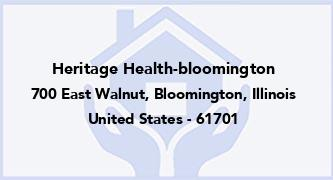 Heritage Health-Bloomington