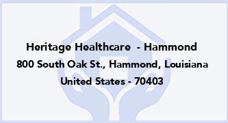 Heritage Healthcare  - Hammond