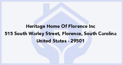 Heritage Home Of Florence Inc