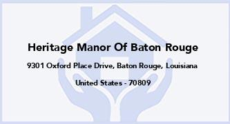 Heritage Manor Of Baton Rouge