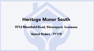 Heritage Manor South