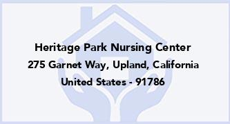 Heritage Park Nursing Center