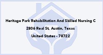 Heritage Park Rehabilitation And Skilled Nursing C