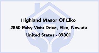 Highland Manor Of Elko