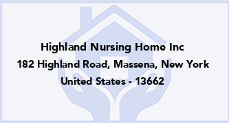 Highland Nursing Home Inc