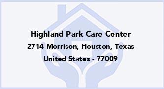 Highland Park Care Center
