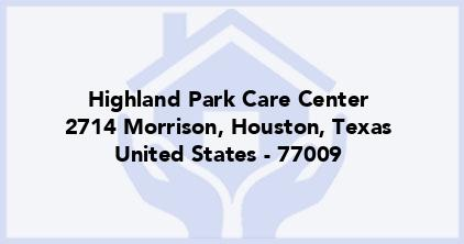 Highland Park Care Center