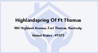 Highlandspring Of Ft Thomas