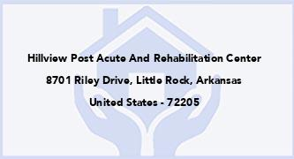 Hillview Post Acute And Rehabilitation Center