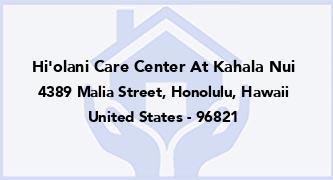 Hi'Olani Care Center At Kahala Nui
