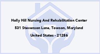 Holly Hill Nursing And Rehabilitation Center