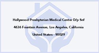 Hollywood Presbyterian Medical Center D/P Snf