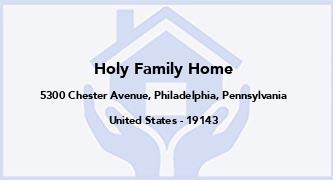Holy Family Home
