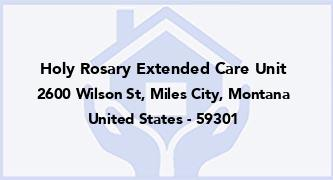 Holy Rosary Extended Care Unit