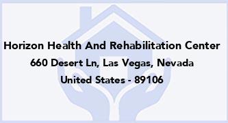 Horizon Health And Rehabilitation Center