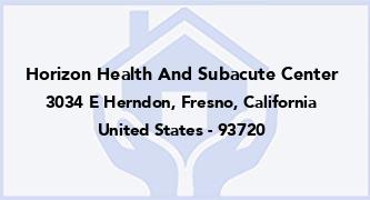 Horizon Health And Subacute Center