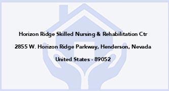 Horizon Ridge Skilled Nursing & Rehabilitation Ctr