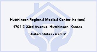 Hutchinson Regional Medical Center Inc (Snu)