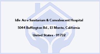 Idle Acre Sanitarium & Convalescent Hospital