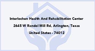 Interlochen Health And Rehabilitation Center