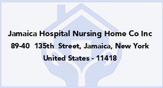Jamaica Hospital Nursing Home Co Inc