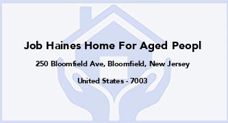Job Haines Home For Aged Peopl