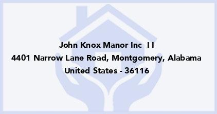 John Knox Manor Inc  I I