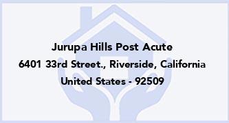 Jurupa Hills Post Acute