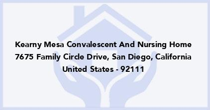 Kearny Mesa Convalescent And Nursing Home