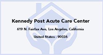 Kennedy Post Acute Care Center