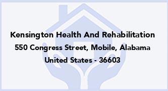 Kensington Health And Rehabilitation