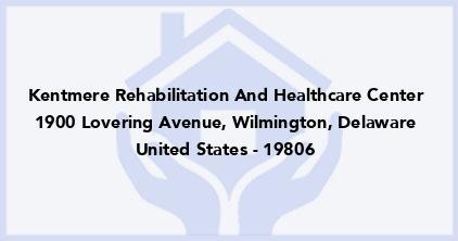 Kentmere Rehabilitation And Healthcare Center