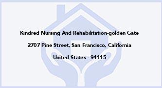 Kindred Nursing And Rehabilitation-Golden Gate