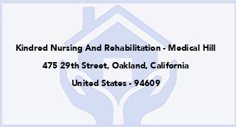 Kindred Nursing And Rehabilitation - Medical Hill