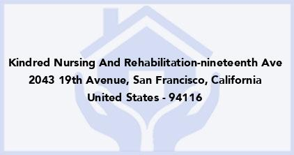 Kindred Nursing And Rehabilitation-Nineteenth Ave