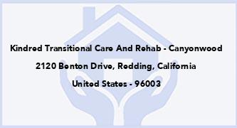 Kindred Transitional Care And Rehab - Canyonwood
