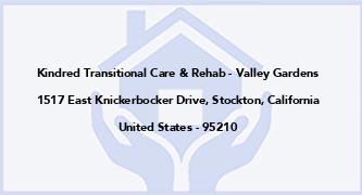Kindred Transitional Care & Rehab - Valley Gardens